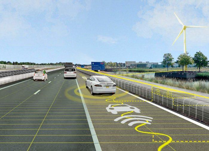 Solarroute A37 synergie snelweg en landschap